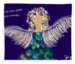 May The Sun Shine In Your Darkness Fleece Blanket