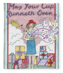 May Your Cup Runneth Over Fleece Blanket