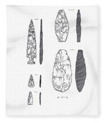 Maya Stone Tools Fleece Blanket
