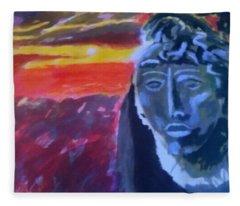 Maya Sunset Fleece Blanket