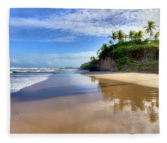 Mayaro Beach Trinidad Fleece Blanket