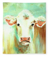 Maybell The Cow Fleece Blanket