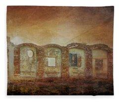 Mayfair Mills Ruins Easley South Carolina Fleece Blanket