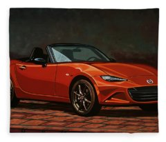 Mazda Mx-5 Miata 2015 Painting Fleece Blanket