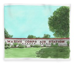 Mcas Cherry Point Welcome Fleece Blanket