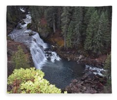 Mccloud River Falls Fleece Blanket