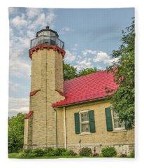 Mcgulpin Point Lighthouse Fleece Blanket
