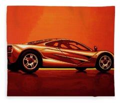 Mclaren F1 1994 Painting Fleece Blanket