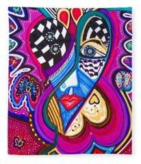 Me Looking For Love - Viii Fleece Blanket