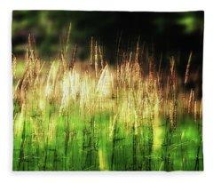 Meadow Grass Fleece Blanket