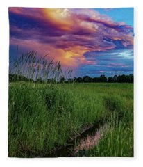Meadow Lark Fleece Blanket