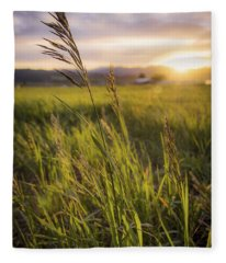 Meadow Light Fleece Blanket