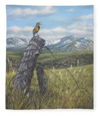 Meadowlark Serenade Fleece Blanket