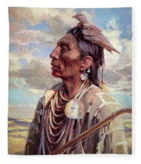 Medicine Crow Fleece Blanket