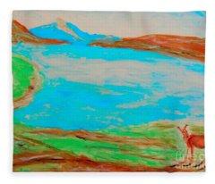Medicine Lake Fleece Blanket