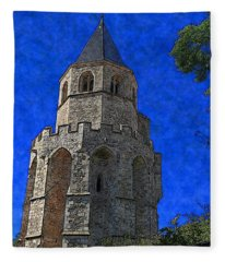 Medieval Bell Tower 2 Fleece Blanket