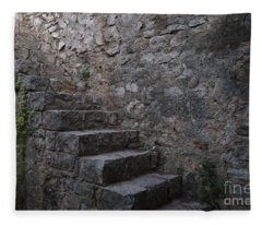 Medieval Wall Staircase Fleece Blanket