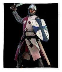 Medieval Warrior Fleece Blanket