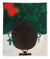 Meditation Queen  Fleece Blanket