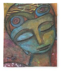Meditative Awareness Fleece Blanket