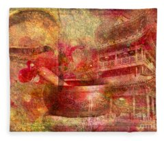 Meditative Montage 2015 Fleece Blanket