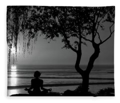 Fleece Blanket featuring the photograph Meditative State by Andrea Kollo