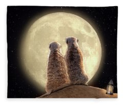 Meerkat Moon Fleece Blanket