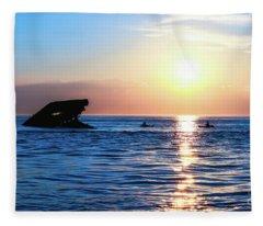 Meet Me At Sunset Fleece Blanket