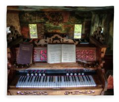 Meeting House Organ Fleece Blanket