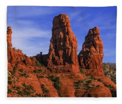 Megalithic Red Rocks Fleece Blanket