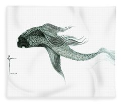 Megic Fish 1 Fleece Blanket