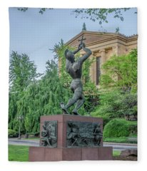 Meher Statue - Philadelphia Museum Of Art Fleece Blanket
