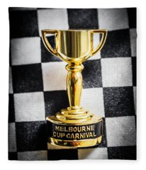 Melbourne Cup Pin On Mens Chequered Fashion Tie Fleece Blanket