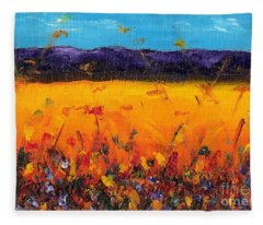 Melissa's Meadow Fleece Blanket
