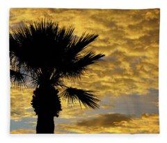 Mellow Yellow Sunset Fleece Blanket