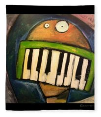 Melodica Mouth Fleece Blanket