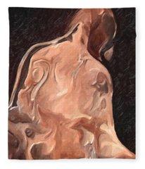 Melted Wax Model Fleece Blanket