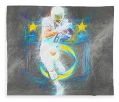 Melvin Gordon La Chargers 4 Football Fleece Blanket