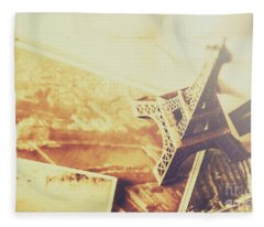 Memories And Mementoes Of Travelling France Fleece Blanket