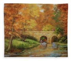 Memories At Stone Bridge Fleece Blanket