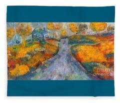 Memories Of Home In Autumn Fleece Blanket