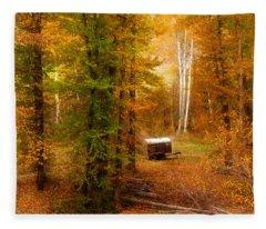 Memories Of Seasons Past  Fleece Blanket