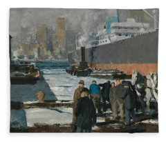Men Of The Docks Fleece Blanket
