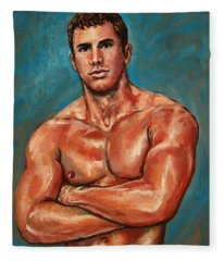 Man Sweat Fleece Blanket