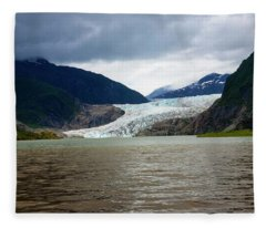 Mendenhall Glacier  Fleece Blanket