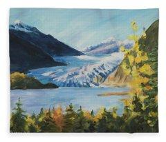 Mendenhall Glacier Juneau Alaska Fleece Blanket