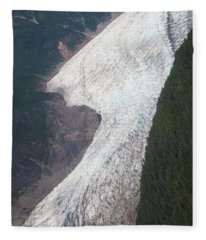 Mendenhall Glacier Fleece Blanket