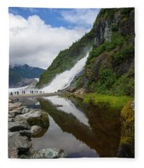 Mendenhall Waterfall Fleece Blanket