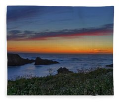 Mendocino Headlands Sunset Fleece Blanket