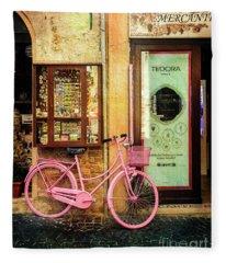 Mercante Tedora Bicycle Fleece Blanket